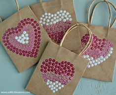 Puffy Paint Gift Bags for V-day from SaltLickLessons.com