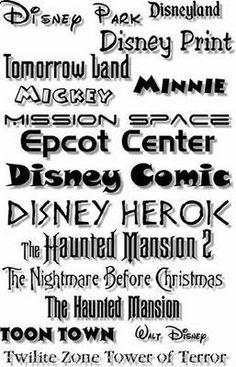 """FONT Centre: Disney Fonts - """"Famous"""""""