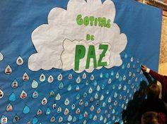 """Se acerca el Día de la Paz y en mi colegio ya hemos decidido la actividad grupal del día 30, bajo el lema: """"Construimos la Paz"""". El año pasado realizamos… Peace Crafts, Kindness Projects, Murals For Kids, Religion, Preschool, Teaching, Education, Blog, Early Education"""