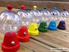 These are the cutest little gumball machines that you can use as both decorations and party favors at your next birthday bash..  This...