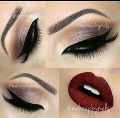 Makeup Goals, Makeup Tips, Beauty Makeup, Makeup Trends, Makeup Ideas, Hair Beauty, Pretty Makeup, Love Makeup, Red Makeup