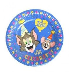 """Tom and Jerry Plates - 9"""" (Pack Of 10)"""
