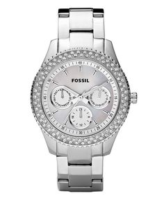 Fossil Watch, Women's Stella Stainless Steel Bracelet 37mm ES2860 - All Watches - Jewelry & Watches - Macy's