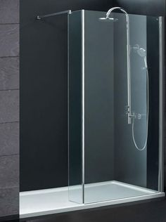 Indi 1800 x 700 Walk in Shower Enclosure inc Tray and Waste - - Walk In Showers - Shower Enclosures - Aquabliss Best Bathroom Vanities, Modern Bathroom, Small Bathroom, Bathroom Ideas, Shower Ideas, Family Bathroom, Design Bathroom, Master Bath Shower, Steam Showers Bathroom