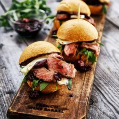 """""""Beef, Brie and Cherry Sauce Sliders. Credit: @b_stylinglife The winners of this week are @katerera (For the Best Picture; Ricotta Pancakes with Cherry…"""""""