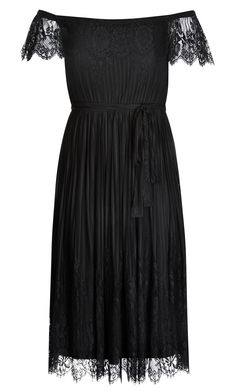 City Chic - VINE DETAIL DRESS - Women's Plus Size Fashion Plus Size Fashion Dresses, Plus Size Outfits, City Chic, My Wardrobe, Size Clothing, Clothes, Black, Detail, Large Size Clothing