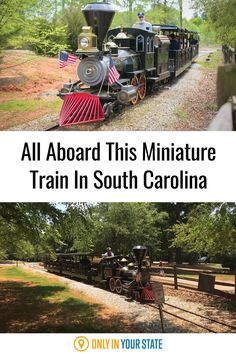 Take a scenic train ride around a pretty park in South Carolina. This miniature train makes for a great day trip stop and it's perfect for family fun and kids of all ages.