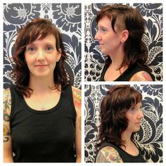 Tonya's textured layered cut with a surprise on the side. Cut by Andrea. Hair Trends, Texture, Surface Finish, In Style Hair, Latest Hairstyles, Pattern