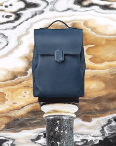 """58be6305f030 Hermès official account on Instagram  """"Architectural and pratical   HermesBags The Flash backpack was inspired from travel trunks."""