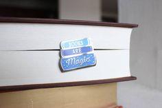 Books are Magic Enamel Pin; Clutch back fastener