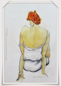 Rutheart: Study of a Egon Schiele drawing #1 Coloured Pencil Drawing