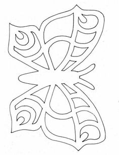 Butterfly stencil or embroidery patterns more – Artofit Butterfly Stencil, Butterfly Drawing, Butterfly Template, Butterfly Crafts, Flower Template, Crown Template, Butterfly Mobile, Heart Template, Kirigami