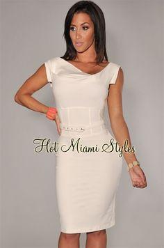 Dress Skirt, Peplum Dress, Bodycon Dress, Sexy Dresses, Short Dresses, Semi Formal Dresses, Hot Miami Styles, Pencil Dress, White Women