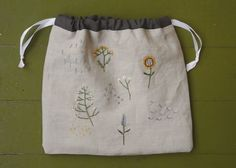 garden sampler project bag RESERVED for Dragonfly57 by tinyhappy
