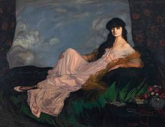 'Portrait of Countess Mathieu de Noailles' by Ignacio Zuloaga y Zabaleta; Museo de Bellas Artes, Bilbao Another Spanish painter f. Spanish Painters, Spanish Artists, Oil Painting Pictures, Pictures To Paint, Museum Of Fine Arts, Art Museum, Francisco Jose, Kunsthistorisches Museum, Fine Art Prints
