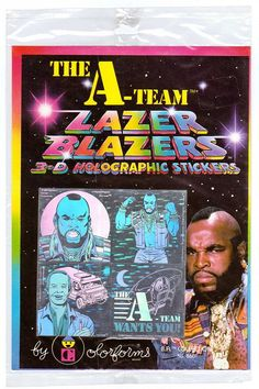 Vintage 1983 A-Team Lazer Blazers by Colorforms 3-D Holographic Stickers NIP.