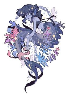 But I love this photo. This is I don't know the artist so I can't credit them. Steven Universe Gem, Universe Art, Steven Universe Fan Fusions, Mermaid Drawings, Mermaid Art, Mermaid Paintings, Tattoo Mermaid, Vintage Mermaid, Manga Dragon