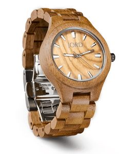 Fieldcrest - Koa & Burl - Wood Watch by JORD