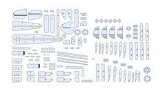 Grote voorbeeldweergave van het 3D-model van Cessna UC 78 Bobcat vliegtuig sketchup