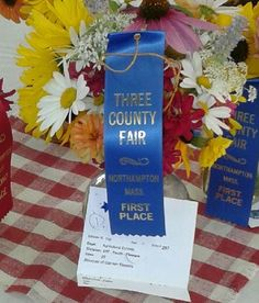 "2"" x 8"" Square Top Ribbon - Beautiful display at the Three County Fair in Northampton, Ma"