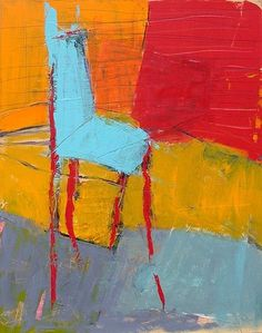Blue Chair 1 : Archive of Sold Work : Susan Finsen - Abstract Drawing and Painting
