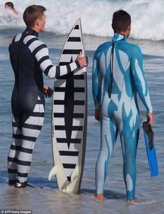 955ff3f8b3a Biting back  The invisibility wetsuit that protects swimmers and surfers  from deadly shark attacks