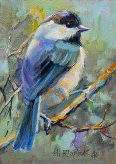 MY CHICKADEE, painting by artist Elizabeth Blaylock