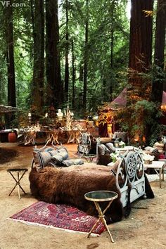 "Don't really love all this but I like the idea of a ""enchanted seating area"""