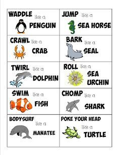 animal action this will be fun to do this summer in the pool or backyard with Daegan