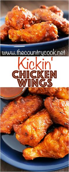 Kickin' Buffalo Chicken Wings recipe from The Country Cook