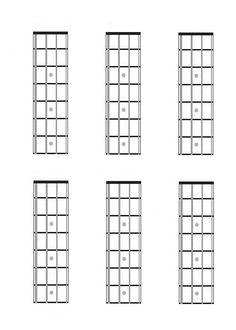 Five string bass guitar fretboard diagrams charts blank music four string bass guitar charts fretboard diagrams blank music teaching sciox Gallery
