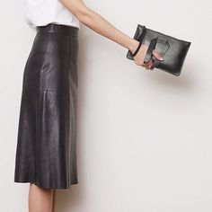 """@n21_official leather clutch. #instorenow #bloodorange #sydney"""