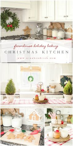 Holiday Housewalk 2015 | Farmhouse Holiday Baking in the Christmas Kitchen | Gather inspiration from the Holiday Housewalk 2015 with a modern farmhouse decorated for Christmas using rustic and classic decor.