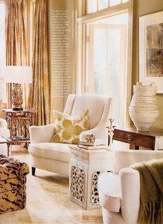 Love the rectangular garden seat South Shore Decorating Blog: Weekend Roomspiration (#5)