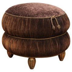 Elegant Art Deco Pouf | From a unique collection of antique and modern ottomans and poufs at http://www.1stdibs.com/furniture/seating/ottomans-poufs/