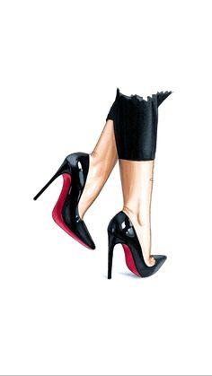 Chantallicious 💙✨ Fashion - Food - Luxury - Travel Chantallicious Source by babyi_ ideas sketch Tableau Pop Art, Mode Poster, Chanel Art, Fashion Wallpaper, Fashion Wall Art, Shoe Art, Fashion Sketches, Designs To Draw, Cute Drawings