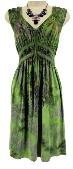 2X 18 20 SEXY Womens Green/Purple SUBLIMATION SUMMER DRESS Cruise PLUS SIZE #ONEWORLD #EmpireWaist #Versatile