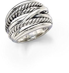 David Yurman Wide Cable Ring on shopstyle.com