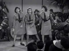 I now have this song permanently stuck in my mind. Andrews Sisters-Mr Bass Man