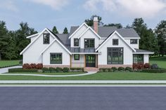 Take 10% off this modern farmhouse plan (and thousands more) for a limited time. Questions? Call 1-888-447-1946 today. #architect #architecture #buildingdesign #homedesign #residence #homesweethome #dreamhome #newhome #newhouse #foreverhome #interiors #archdaily #modern #farmhouse #house #lifestyle #design #buildersareessential Architectural Design House Plans, Architecture Design, Family Room Fireplace, American Farmhouse, Modern Farmhouse Design, Upstairs Bedroom, Back Patio, Floor Plans, How To Plan