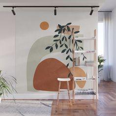 Wall Painting Decor, Mural Wall Art, Wall Decor, Playroom Mural, Tree Wall Murals, Bedroom Wall, Bedroom Decor, Deco Rose, Boho Room