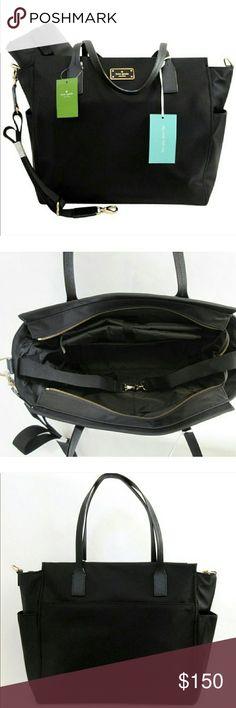 Kate Spade Diaper Bag Black diaper bag, only used it once. kate spade Bags Baby Bags