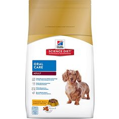 Hill's Science Diet Adult Oral Care Chicken Rice & Barley Recipe Dry Dog Food, 4-Pound Bag - https://www.balanced4u.net/crittercare/hills-science-diet-adult-oral-care-chicken-rice-barley-recipe-dry-dog-food-4-pound-bag/