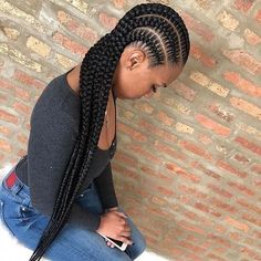 15 long with short braids hairstyles 2019 ~ Dezango Hub - Box Braids Hairstyles Blonde Box Braids, Black Girl Braids, Braids For Short Hair, Girls Braids, Cornrows Braids For Black Women, Cornrows With Box Braids, Long Cornrows, Box Braids Hairstyles, French Braid Hairstyles