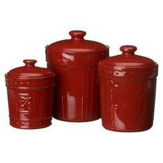 3 Piece Sorrento Canister Set in Ruby at Joss & Main