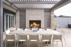 Image result for outdoor fireplace nz