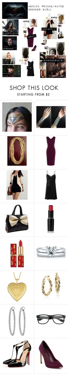 """""""Me in """"Batman vs Superman"""""""" by c-a-marie2000 ❤ liked on Polyvore featuring Once Upon a Time, Karen Millen, DKNY, Wet n Wild, Nivea, Maybelline, BERRICLE, Fremada, Blue Nile and Nephora"""