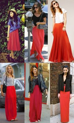 Get your red maxi skirts in time for christmas! Custom size and length orders at www.etsy.com/shop/sarahlmeyers