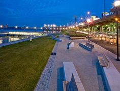 West Harlem Pier Park, by W-Architecture and Landscape Architecture, LLC, in West Harlem, New York City.