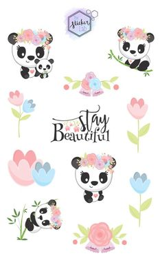 These stickers are perfect for scrapbooks, planners, laptops, etc. Perfect to keep for yourself or gift to friends and family. Our stickers are perfect for all ages! Decoupage Printables, Cute Animal Illustration, Sticker Bomb, Laptop Stickers, Custom Stickers, Cute Drawings, Planner Stickers, Crafts For Kids, Fan Art